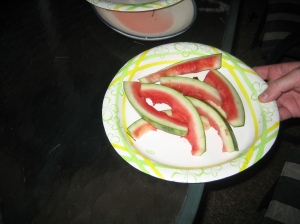 That used to be a plate full of watermelon